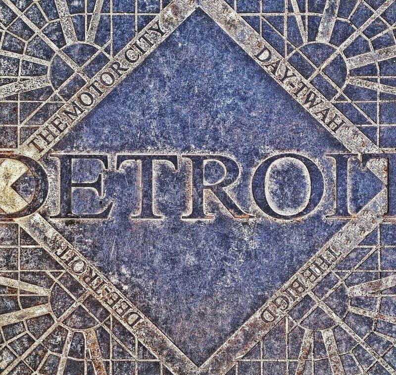 Detroit Manhole pokrywa obraz royalty free