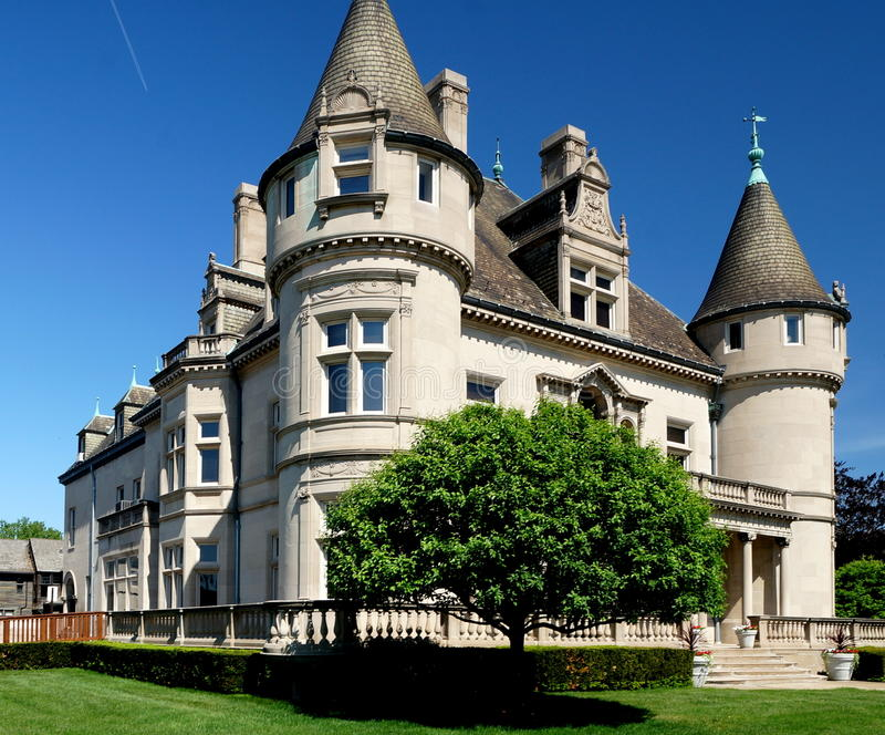 Detroit Mansion royalty free stock photo