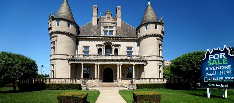 Detroit Mansion stock photo
