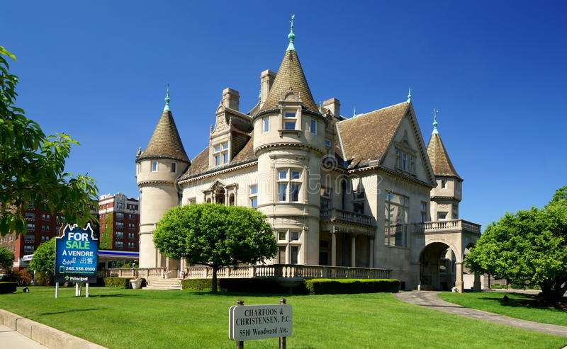 Detroit Mansion royalty free stock images