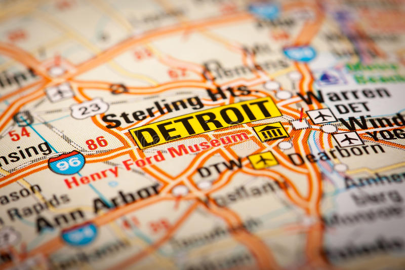 Detroit royalty free stock images
