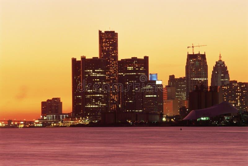 Detroit, MI skyline royalty free stock photography