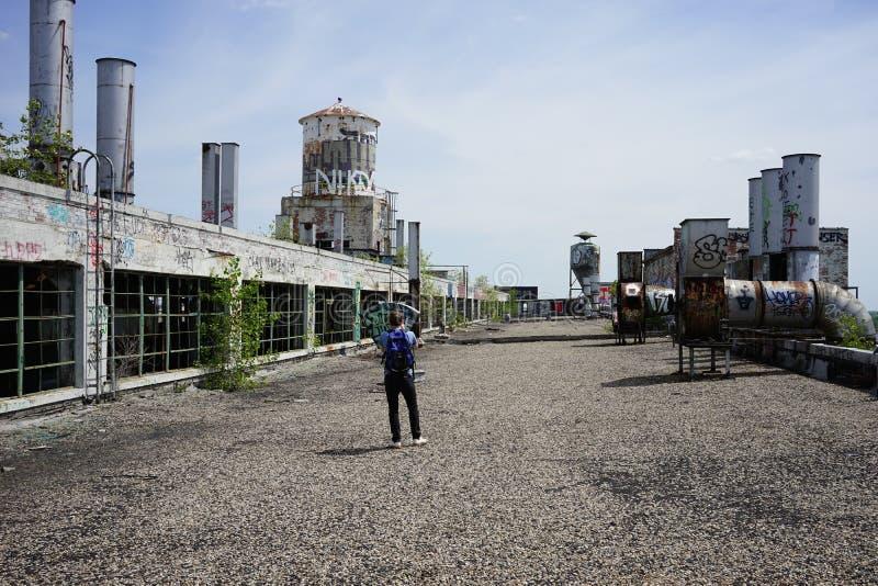 Detroit, Michigan, Estados Unidos - 18 de octubre de 2018: Opinión Fisher Body Plant abandonado en Detroit Fisher Body fotografía de archivo libre de regalías