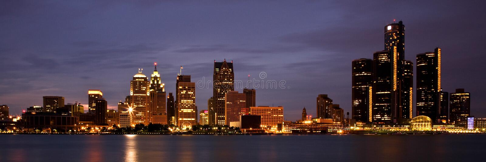Detroit Michigan Skyline royalty free stock photos