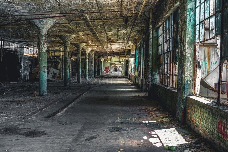 Detroit, Michigan, Stati Uniti - 18 ottobre 2018: Punto di vista di Fisher Body Plant abbandonato a Detroit Fisher Body fotografie stock
