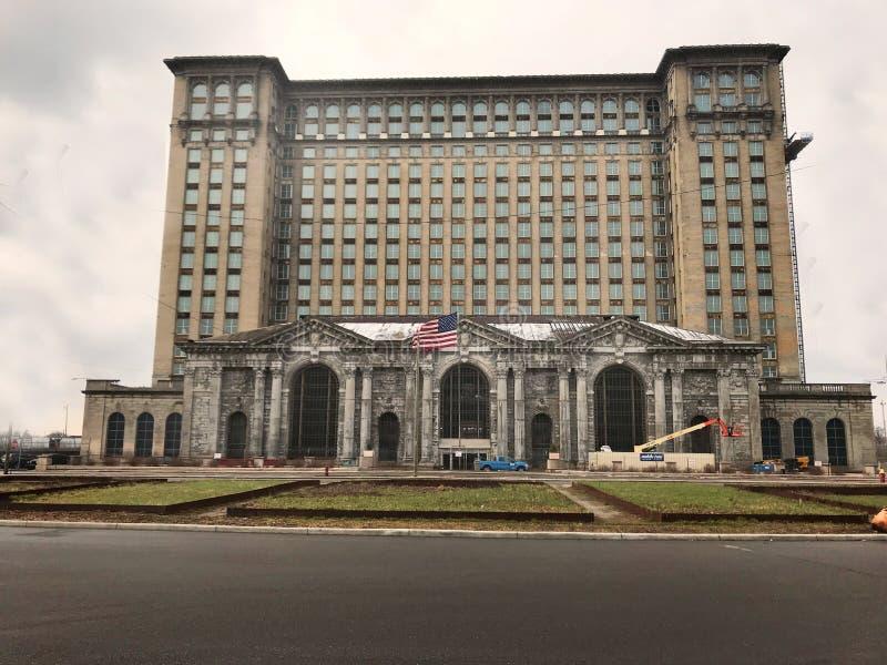Detroit, Michigan USA, April 8, 2018, Michigan Central Station, MCS, Detroit Train Depot stock photos