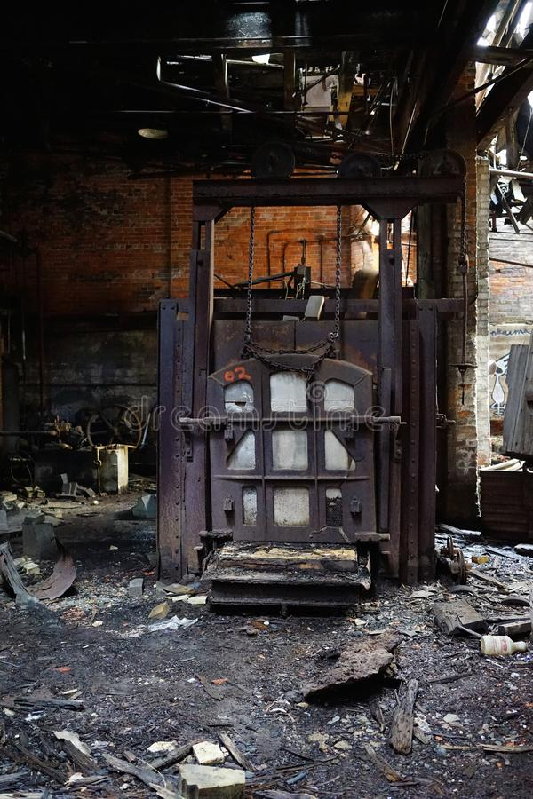 Detroit, Michigan, Vereinigte Staaten - 18. Oktober 2018: Ansicht verlassenen Gray Iron Factorys in Detroit Detroit-Grau lizenzfreies stockbild