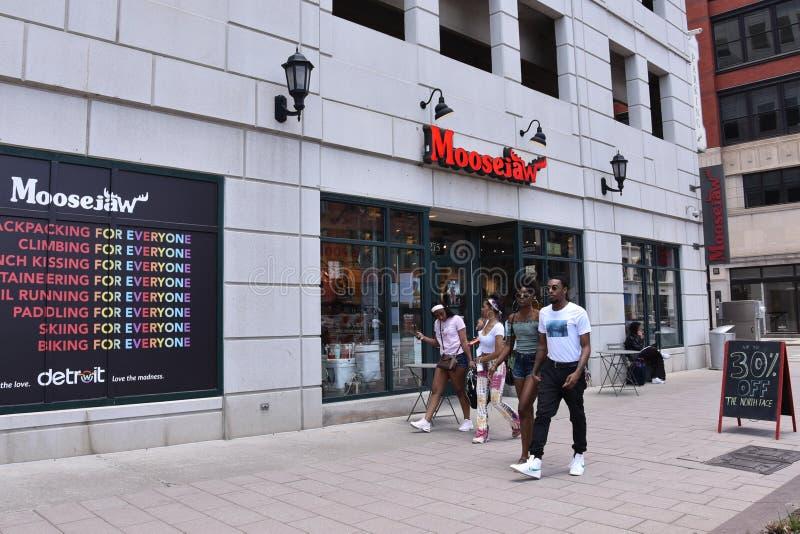 Detroit Moosejaw op Woodward stock afbeelding