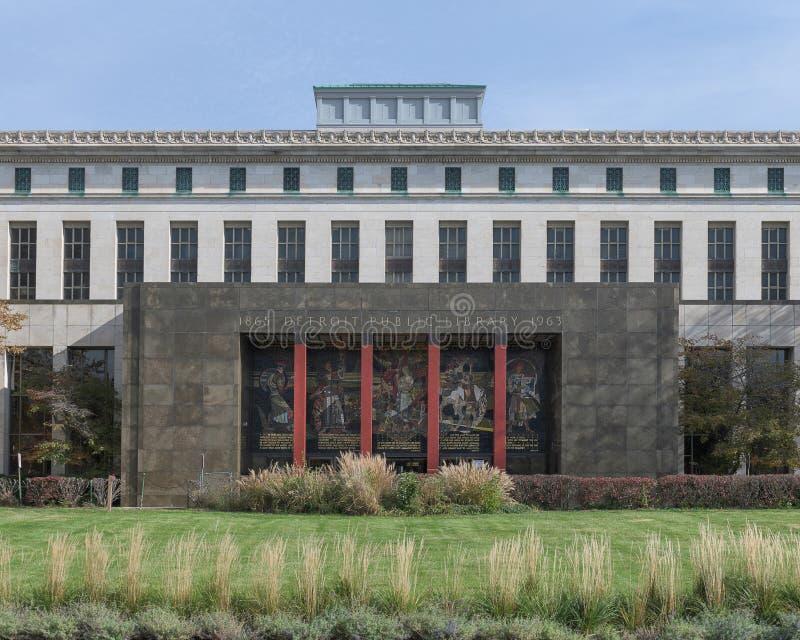 Detroit offentligt bibliotek royaltyfri foto