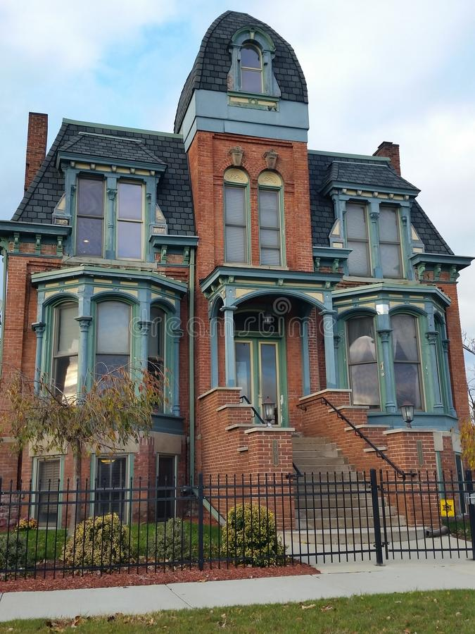 Download Detroit Old Brick Victorian Home Editorial Image
