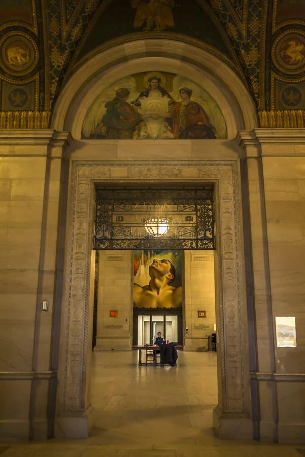 Detroit Public Library, Detroit, Michigan, VS stock foto