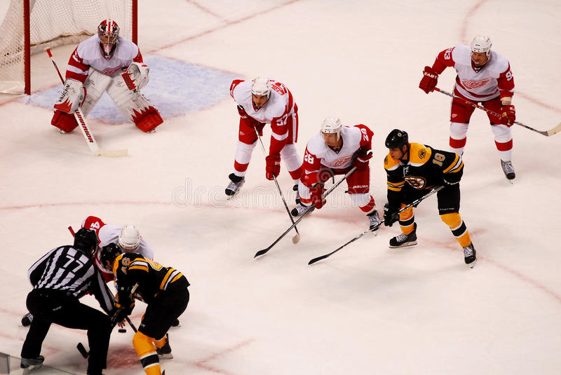 Detroit Red Wings v. Boston Bruins royalty free stock images