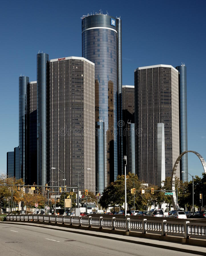 Detroit Renaissance Center royalty free stock photography