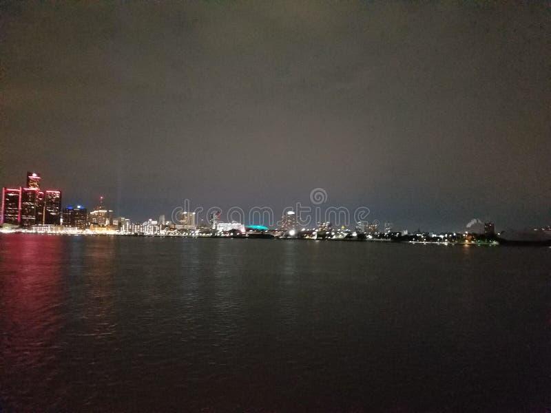 Detroit River royaltyfri foto