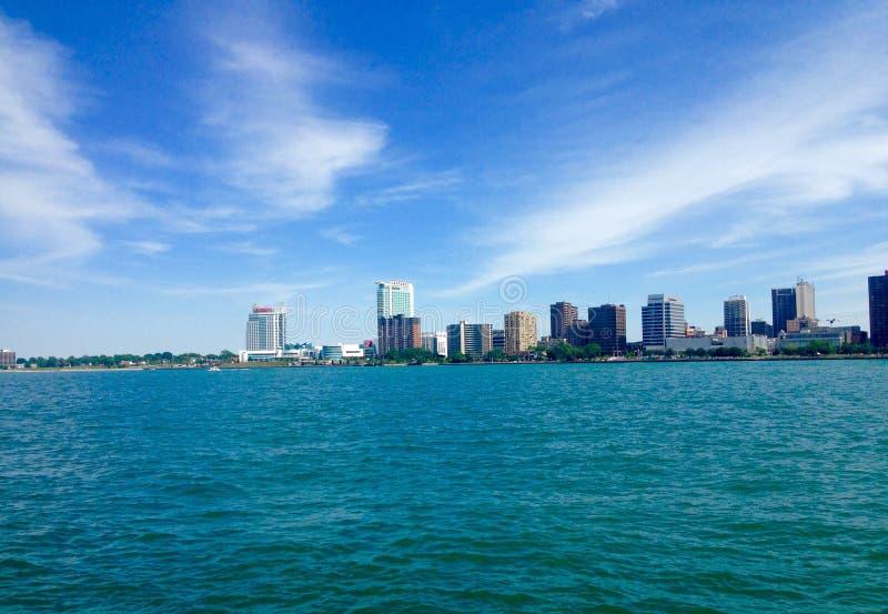 Detroit River arkivfoton