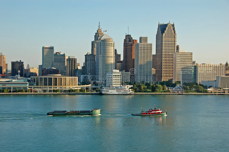 Detroit scenic view stock image