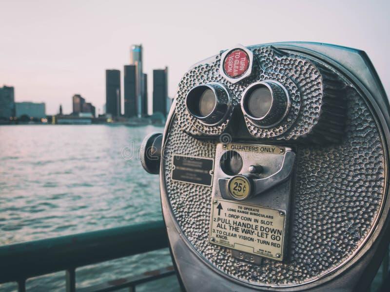 Detroit sighthorisont arkivbild