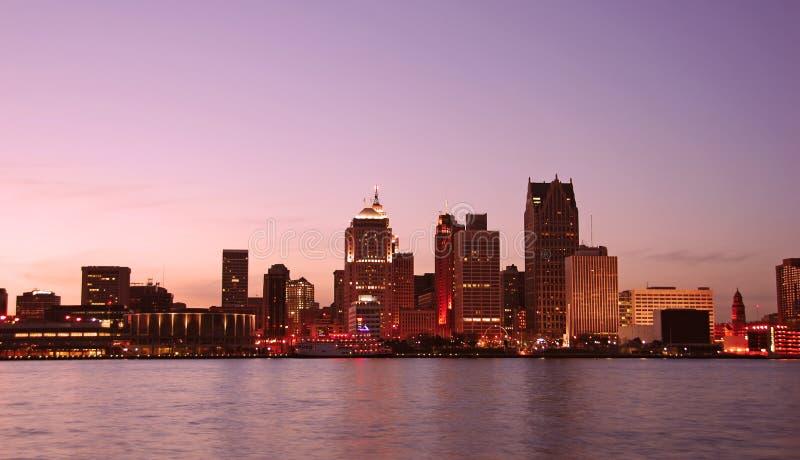 Detroit skyline stock photos