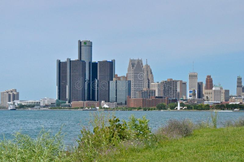 Detroit Skyline stock image