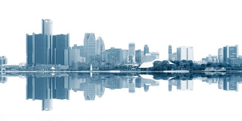 Detroit van de binnenstad stock afbeeldingen