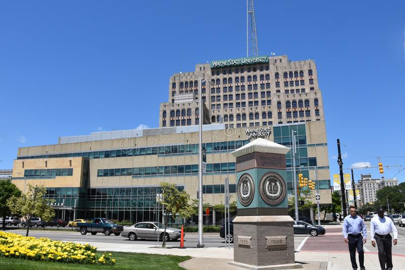 Detroit Wayne State University stock fotografie
