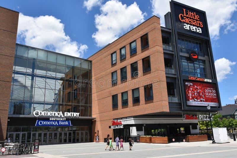 Detroit Weinig Caesars-Arena royalty-vrije stock afbeeldingen