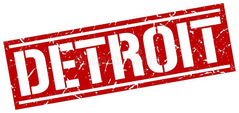 Detroit znaczek royalty ilustracja