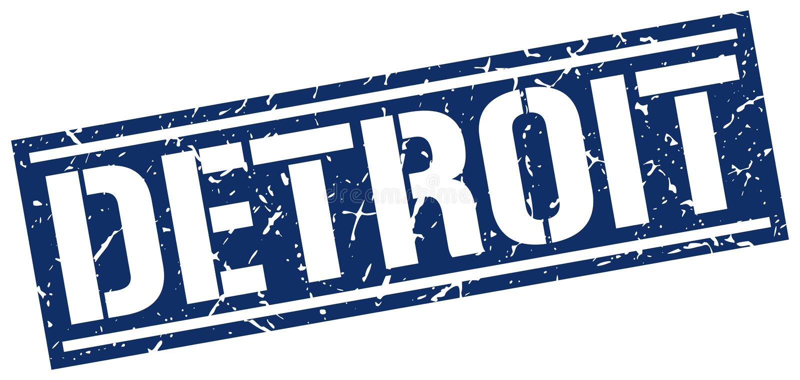 Detroit znaczek ilustracja wektor