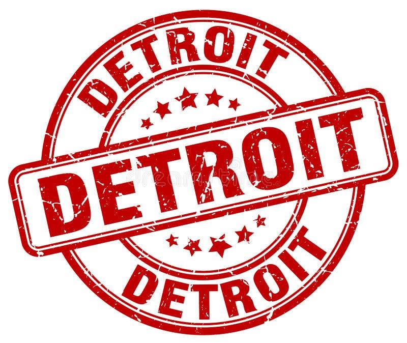 Detroit znaczek ilustracji