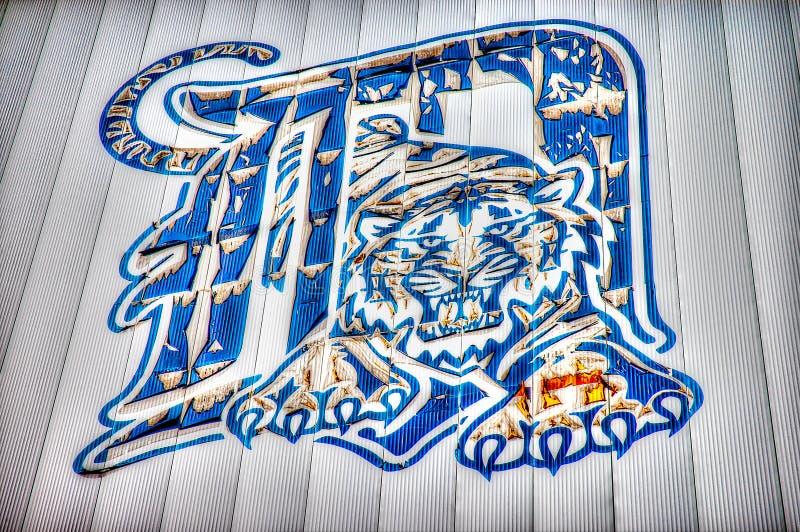 Detroits tiger stadium Stara rozbiórka w HDR skutku fotografia royalty free