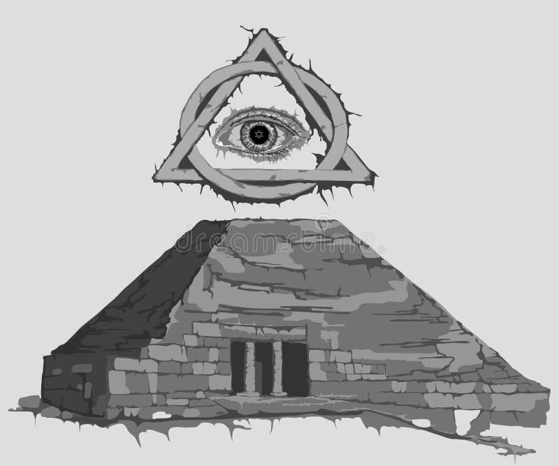 Detseende ögat av Horus stock illustrationer