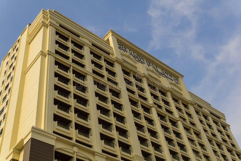 Detta är det stora, gamla och dyra hotellet storslagna Palazzo royaltyfri foto