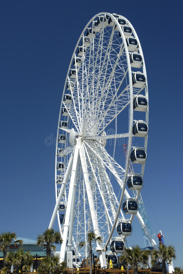 Myrtle Beach Skywheel royaltyfri foto