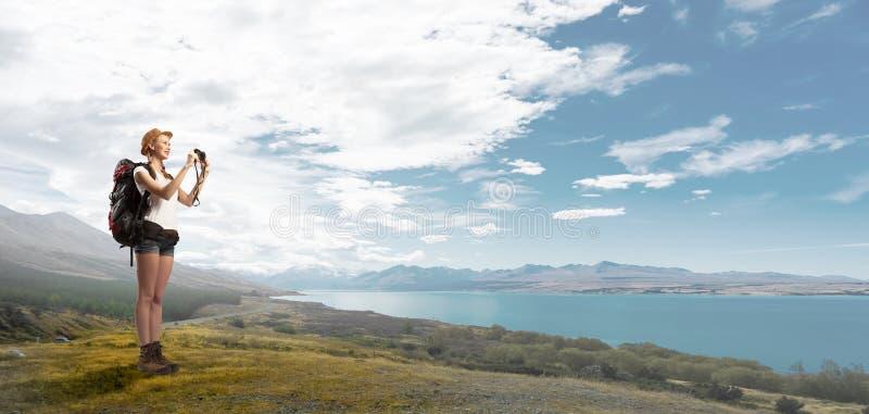 Detta landskap tar en andedräkt! royaltyfri foto