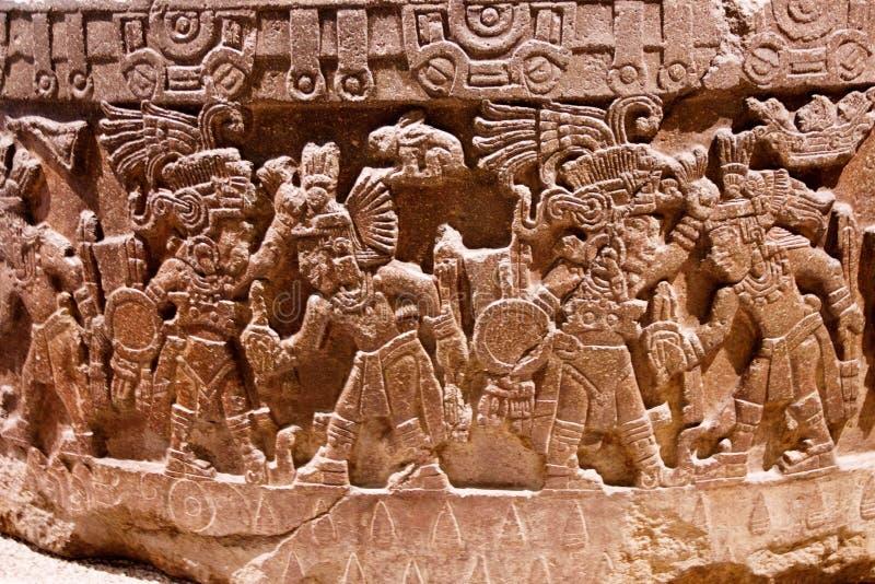 Dettagli alla piramide di Sun di Teotihuacan, Mexico-3 - in secondo luogo più grande nel nuovo mondo dopo la grande piramide di C immagine stock libera da diritti