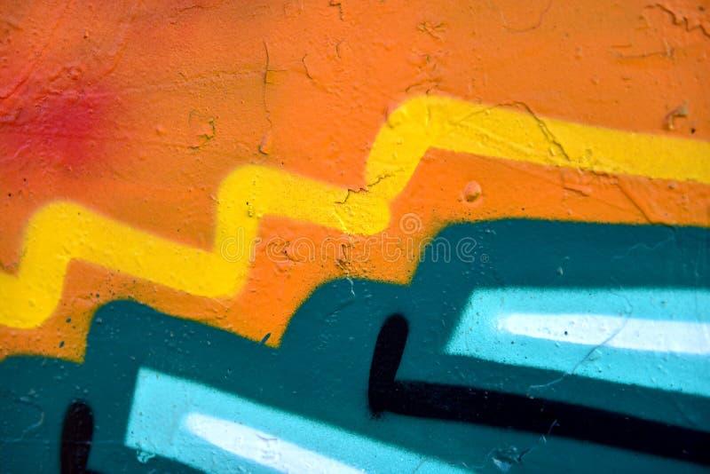 Dettagli astratti Colourful su una parete fotografia stock libera da diritti
