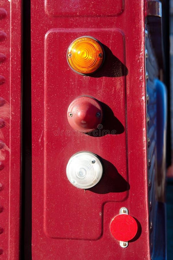 Dettagli d'annata anziani di Citroen del camion dell'alimento fotografia stock libera da diritti