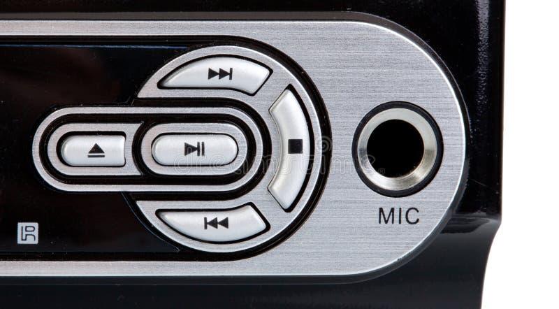 Dettagli dei bottoni di controllo di un lettore DVD fotografie stock libere da diritti