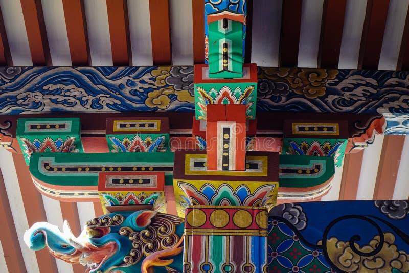 Dettagli del santuario shintoista a Kyoto, Giappone fotografia stock libera da diritti