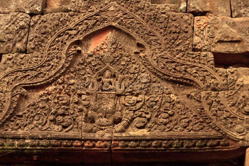 Dettagli del tempio di Wat Phu Champasak nel Laos immagini stock libere da diritti