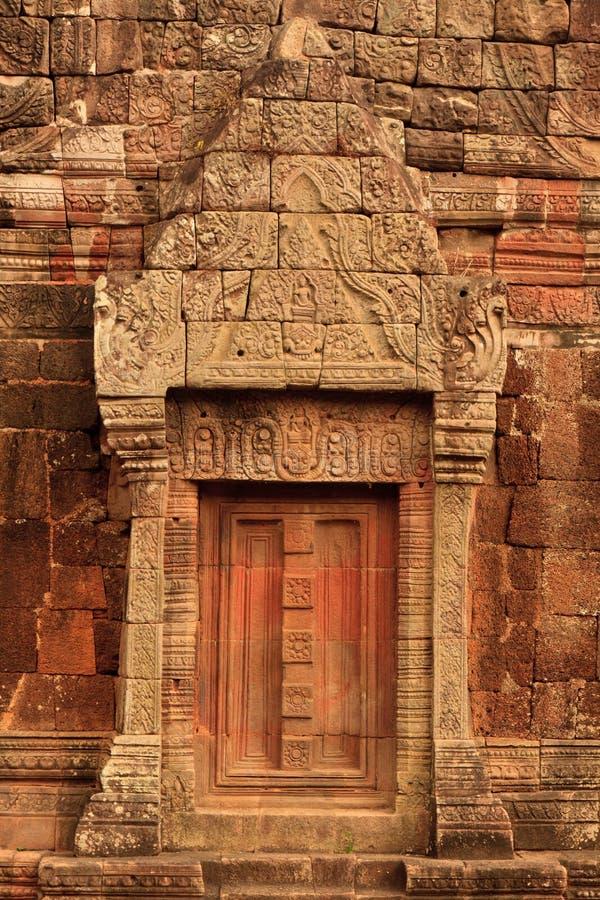 Dettagli del tempio di Wat Phu Champasak nel Laos fotografia stock