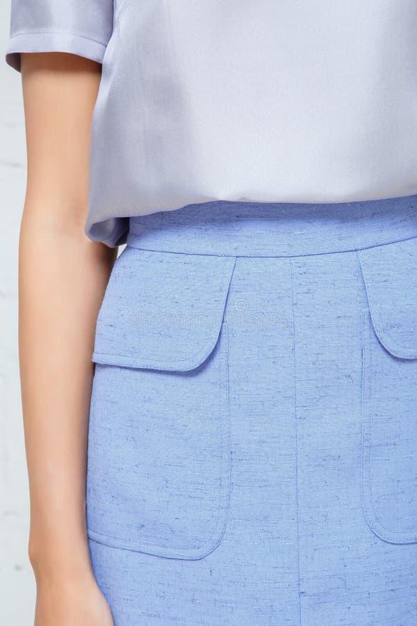 Dettagli dell'abbigliamento del ` s delle donne immagini stock