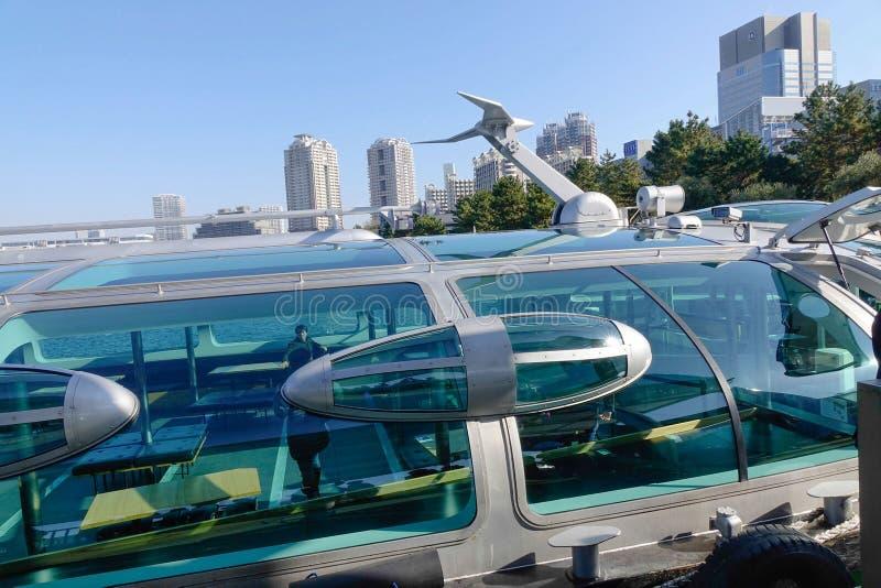 Dettagli della barca di crociera di Tokyo immagini stock