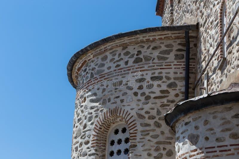 Dettagli della costruzione in Karyes sul monte Athos santo fotografie stock
