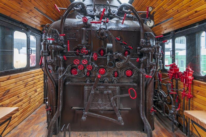 Dettagli della locomotiva a vapore fotografia stock libera da diritti