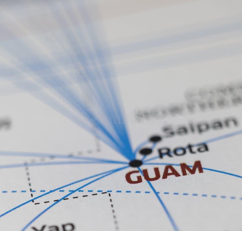 Dettagli della mappa fotografie stock