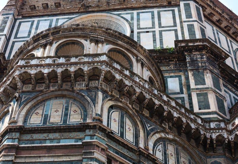 Dettagli di Florence Cathedral, Toscana, Italia immagine stock libera da diritti