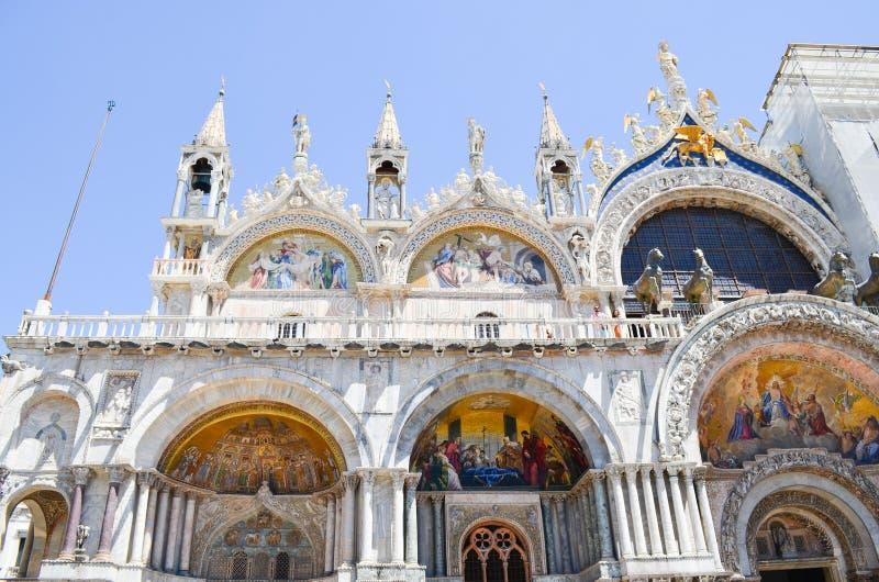 Dettagli di Palazzo Ducale a Venezia, Italia fotografia stock