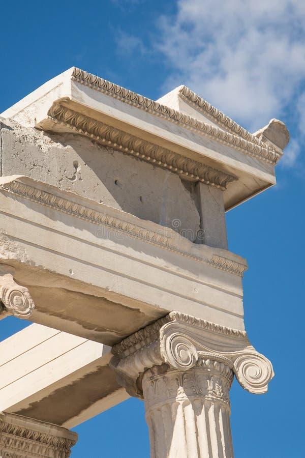 Dettagli di Pathenon, acropoli fotografia stock