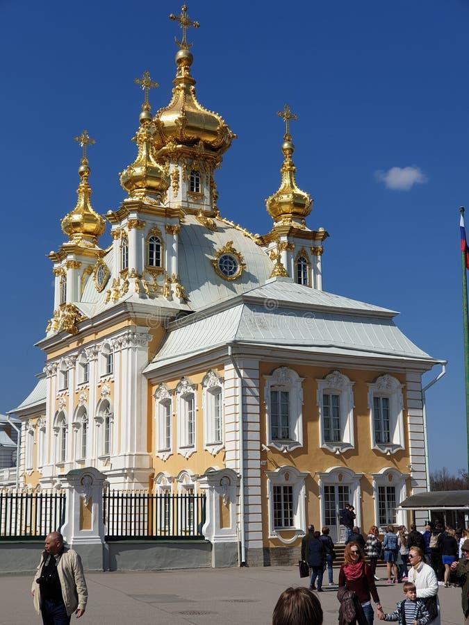 Dettagli di Peterhof Chiesa fotografie stock